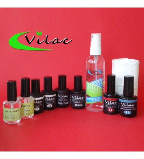 Kit Esmaltes Permanentes Uv Vilac.